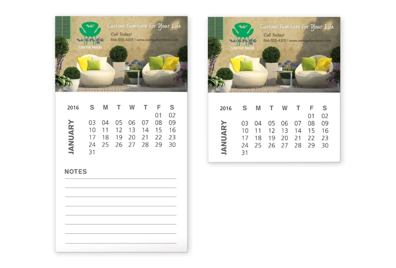 Flexible Calendar Pages Magnets